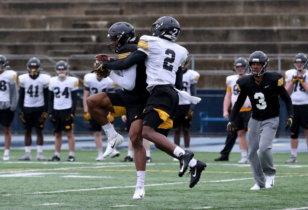 Iowa Hawkeyes wide receiver Brandon Smith (12) during practice Monday, December 23, 2019 at Mesa College in San Diego. (Brian Ray/hawkeyesports.com)