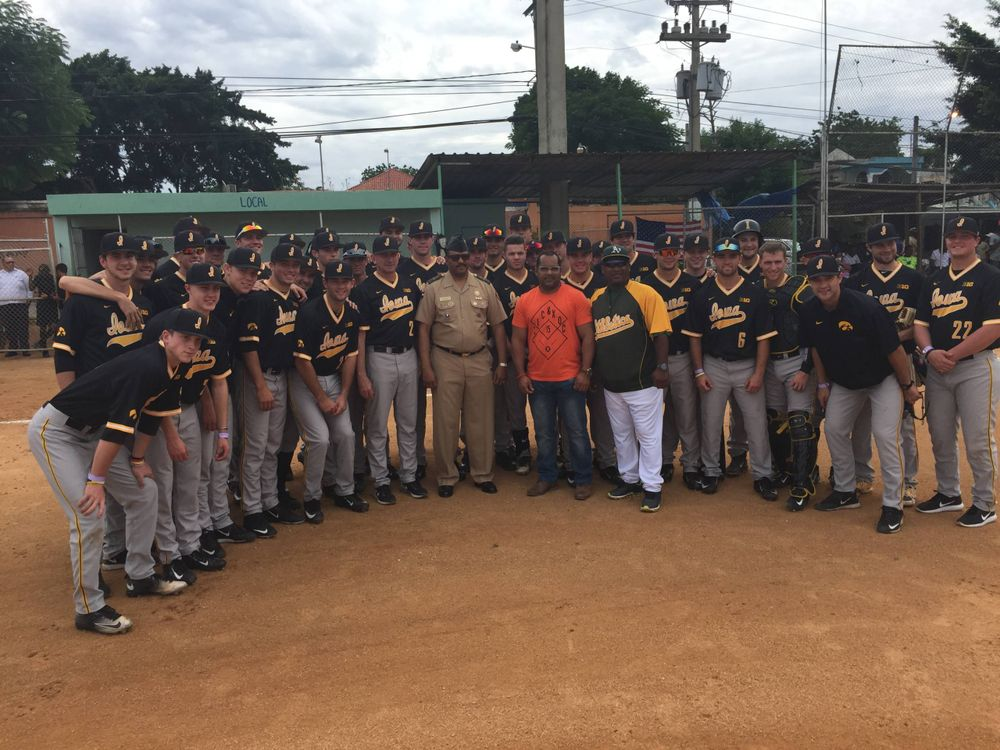 Iowa with President of Dominican National Army Team
