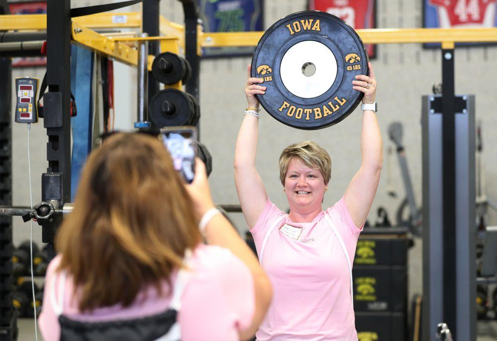 The 2019 Iowa Ladies Football Academy Saturday, June 8, 2019 at the Hansen Football Performance Center. (Brian Ray/hawkeyesports.com)