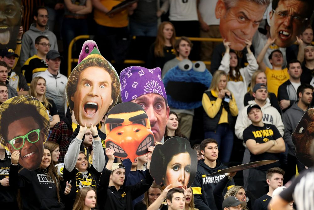 The Hawks Nest against Penn State Saturday, February 29, 2020 at Carver-Hawkeye Arena. (Brian Ray/hawkeyesports.com)