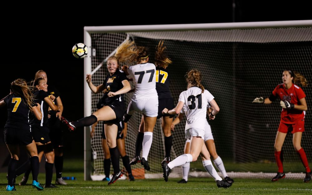 Iowa Hawkeyes Morgan Kemmerling (3) against the Purdue Boilermakers Thursday, September 20, 2018 at the Iowa Soccer Complex. (Brian Ray/hawkeyesports.com)