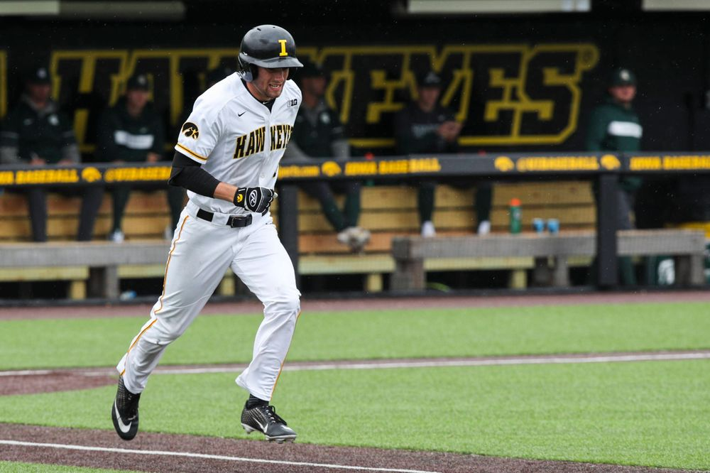 Iowa outfielder Ben Norman  during baseball vs Michigan State game 3 at Duane Banks Field on Sunday, May 12, 2019. (Lily Smith/hawkeyesports.com)