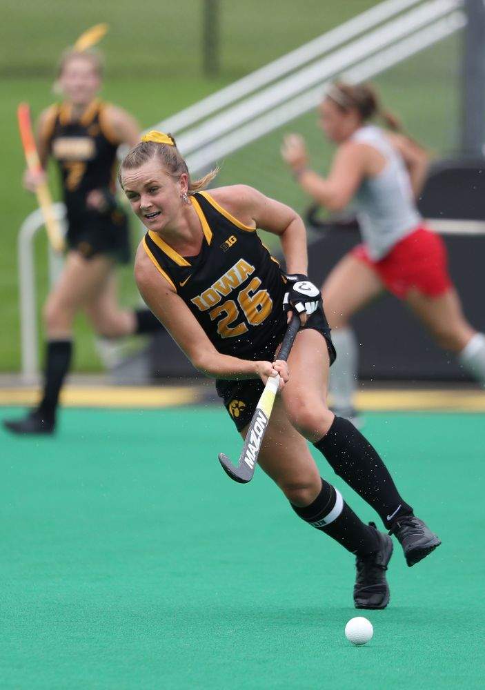 Iowa Hawkeyes forward Maddy Murphy (26) during a 2-1 victory against the Ohio State Buckeyes Friday, September 27, 2019 at Grant Field. (Brian Ray/hawkeyesports.com)