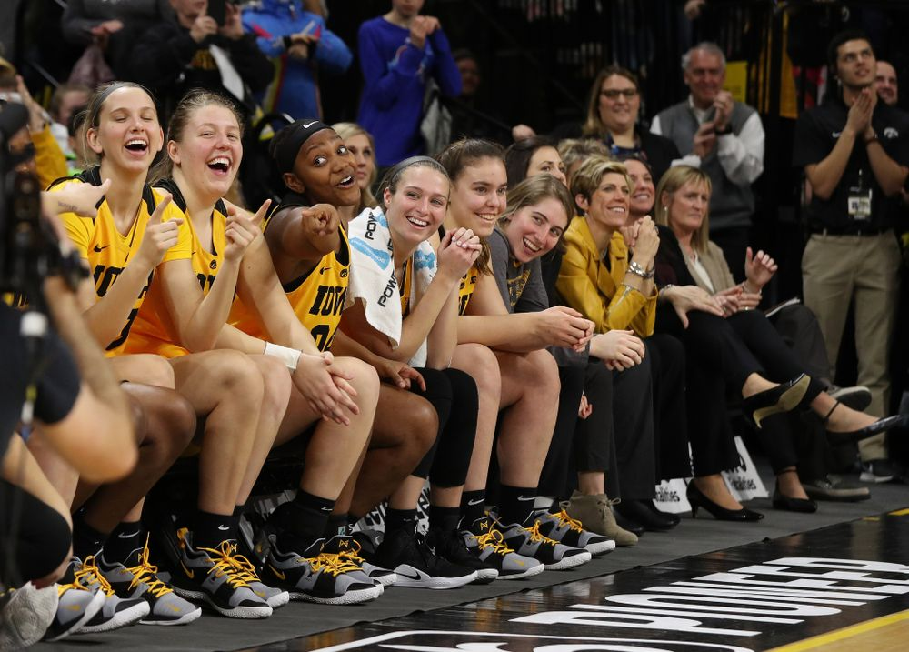 The Iowa Hawkeyesduring senior day ceremonies following their game against the Northwestern Wildcats Sunday, March 3, 2019 at Carver-Hawkeye Arena. (Brian Ray/hawkeyesports.com)